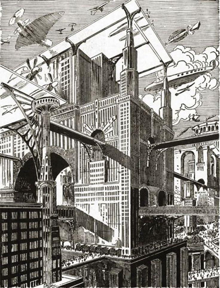 Фрэнк Пауль создавал картины на основе своих представлений о том, каким мир будет в будущем