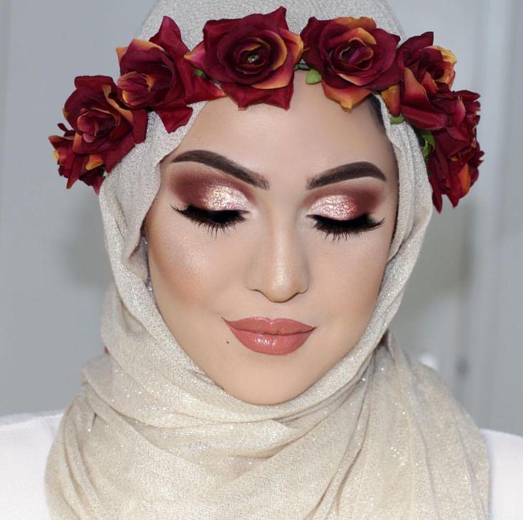 Основной акцент в макияже мусульманки делают на глазах
