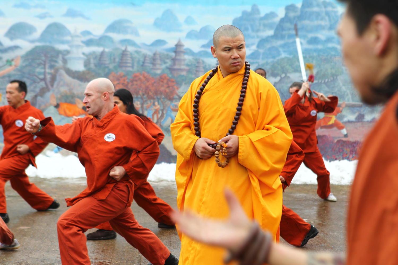 Тренировки в монастыре длятся по 6-8 часов в день
