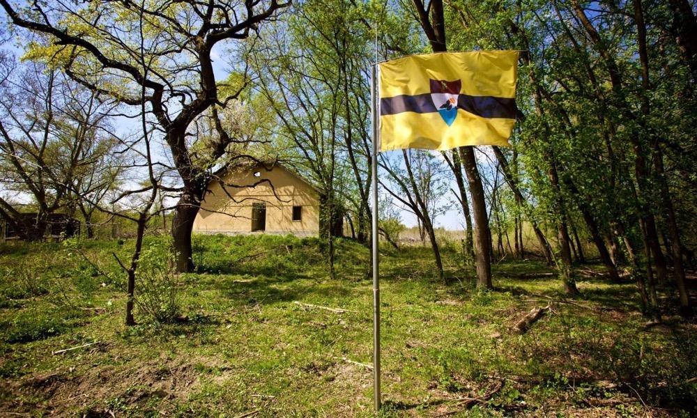 У республики Либерленд есть свой флаг и своя экономика